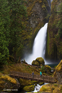 Kyle Hull and Katrina Van Wijk at Wahclella Falls in Oregon