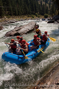 Staircase Rapid on the South Fork Payette River. Bear Valley River Company. Guide Brett Gleason