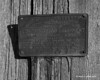 A tag from 1952 about the lightning rods on an old barn