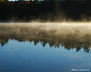 Fog on the water at Island Pond<br /> 10-10-2010