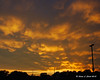 Sunset - Keene, NH<br /> The golden light of the sun was reflecting off of the bumps on the bottom of the clouds