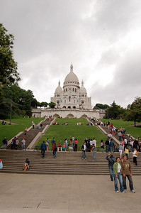 Sacre-Coeur from the First Level  Sacre-Coeur from the first level once inside the fence.