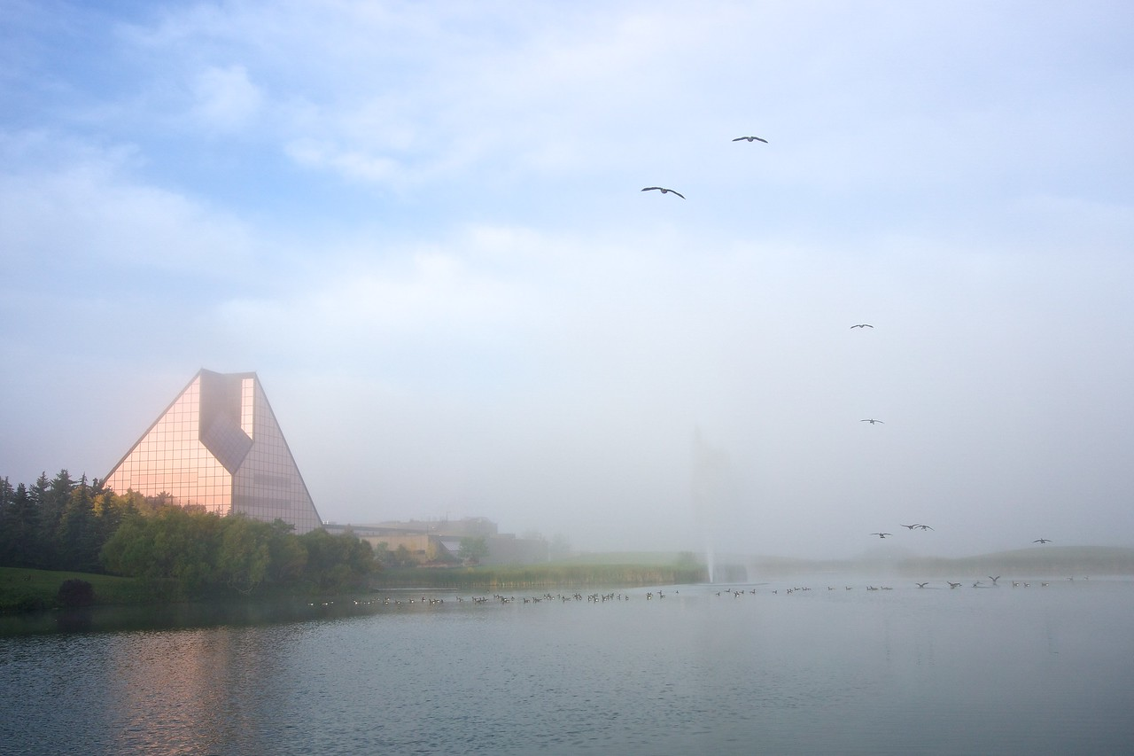 Royal Canadian Mint in the mist