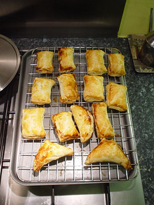 Cooked Mince Parcels  And here are my mince parcels fresh out of the oven. They look a bit like sausage rolls.