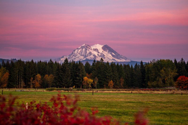 Mount Rainier October Twilight