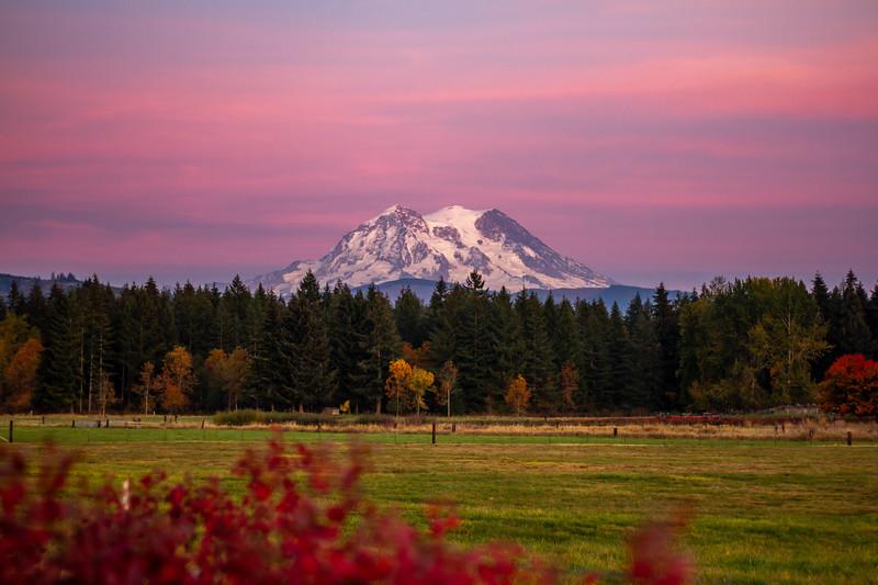 Mount Rainier October Twilight