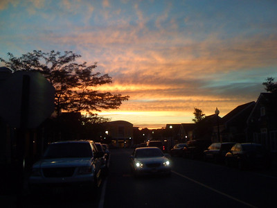 i wish i had a good camera for this sunset