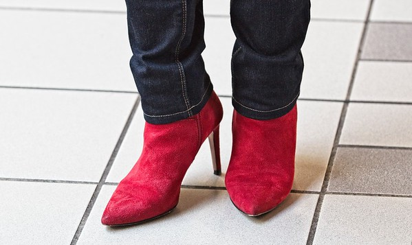 RED SUEDE BOOTS