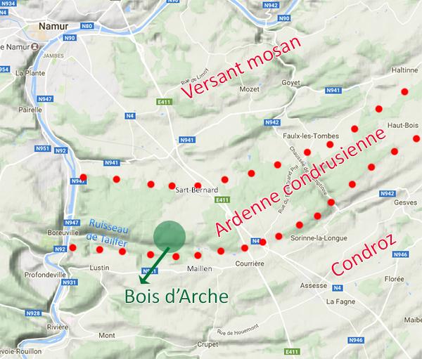 Source : Observatoire du Paysage de l'Université de Namur