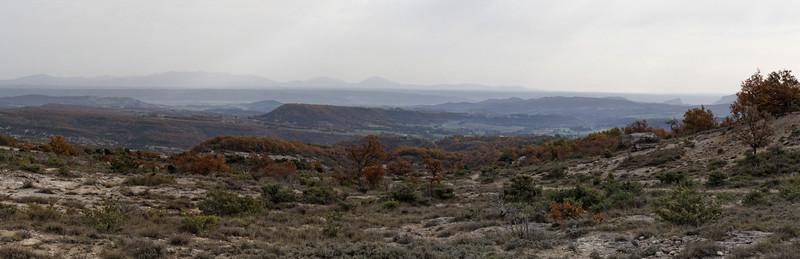 Haut des Mourres, Vue sur Pierrerue, Val de Durance, Valensole, Mourre de Chanier