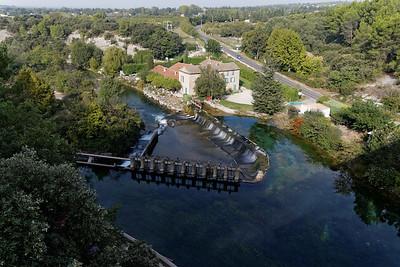 La Sorgues, vue de l'aqueduc