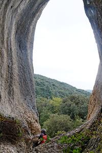 Roque des Bancs, retour. La Grande grotte