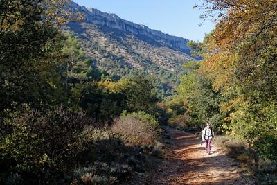 En route vers l'Héliport, les crêtes du Mont Aurélien