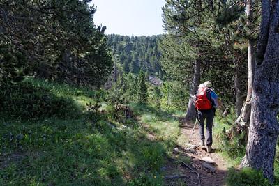 Montée Val d'inclès au dessus du Clot de l'Os