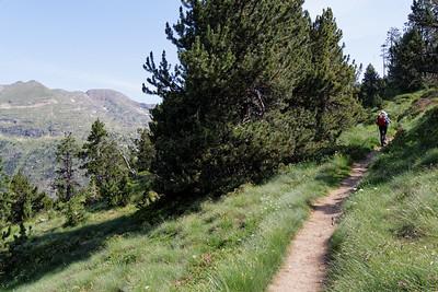 Montée Val d'Inclès, au dessus de l'Obac d'Inclès