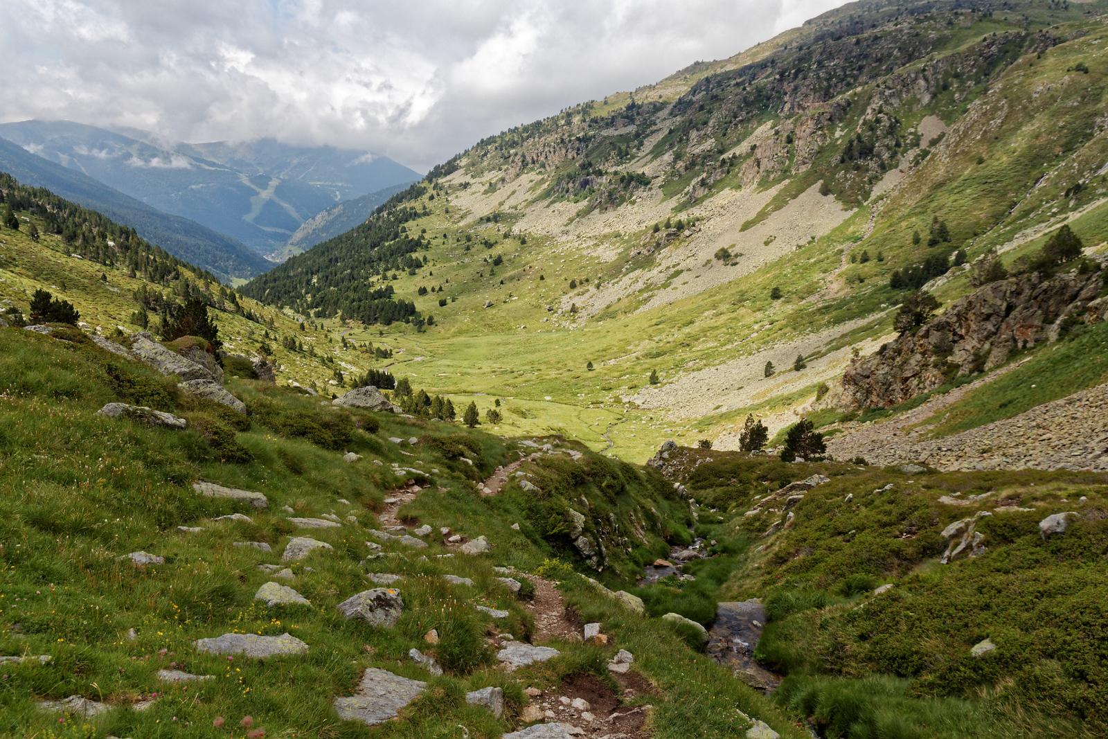 Col d'Inclès - Etangs de Fontargente - Sous le col, côté Andorre
