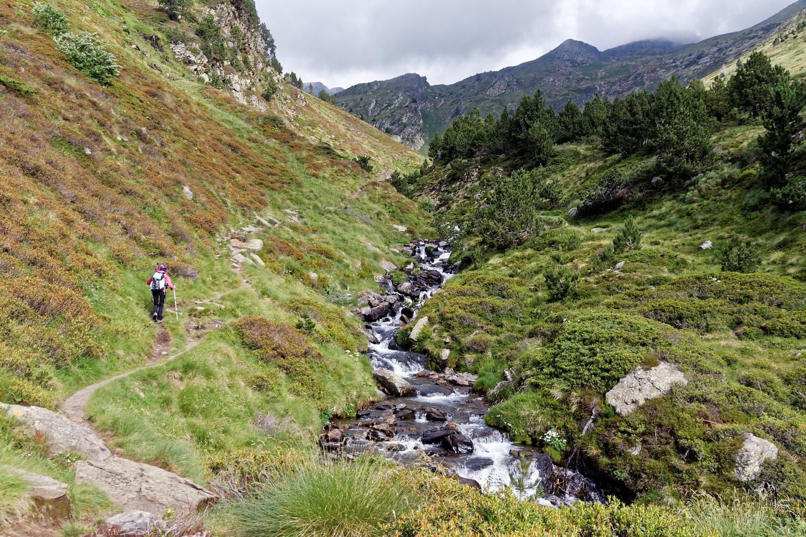 Vallée de Ransol - Le long du Riù dels Meners