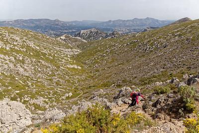 Remontée du col Sabatier - Le vallon de Luinant