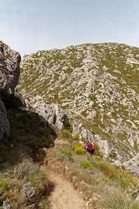 Remontée du col Sabatier - Face au Mont St Cyr