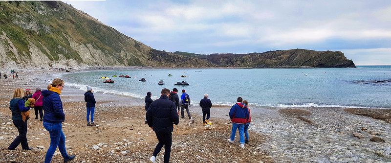 Lulworth Cove from the village slipway.