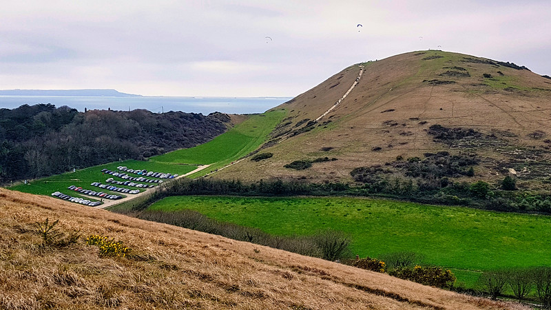 Hanbury Tout from Bindon Hill, above Lulworth Cove