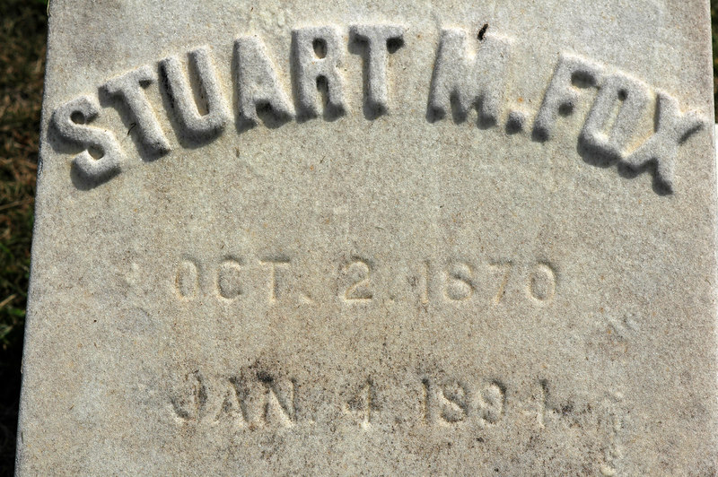 Alanson's son Stuart, died at age 24.