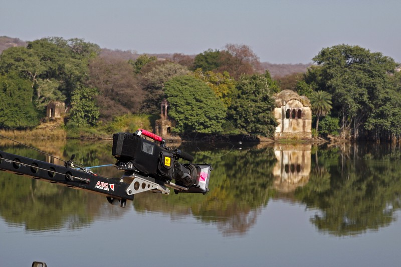 Filming in Ranthambhore national park