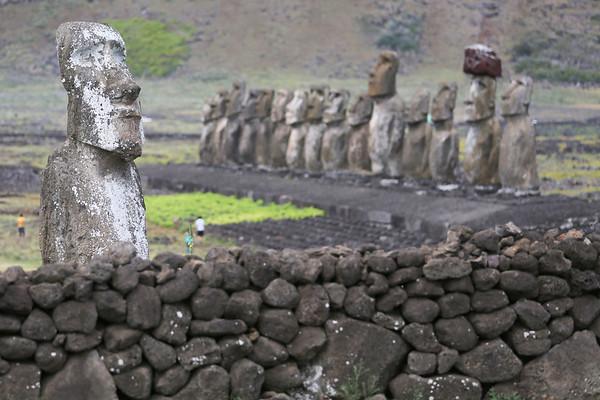 Traveler Moai, Ahu Tongariki Complex, Rapa Nui, Easter Island, Chile
