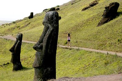 Moai, Rano Raraku, Rapa Nui, Easter Island, Chile
