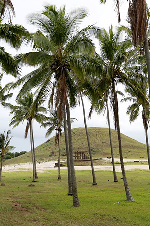 Ahu Nau-Nau, Anakena Beach, Rapa Nui, Easter Island, Chile
