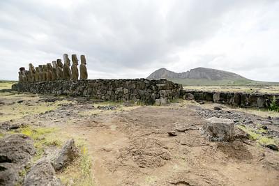 Ahu Tongariki Complex, Rano Raraku Crater, Rapa Nui, Easter Island, Chile
