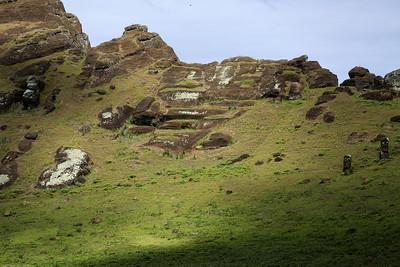 Moai Quarry, Rano Raraku Crater, Rapa Nui, Easter Island, Chile