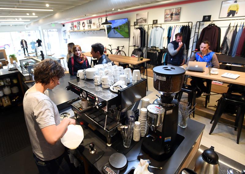 Rapha Cafe/bike store Boulder CTE Art Show