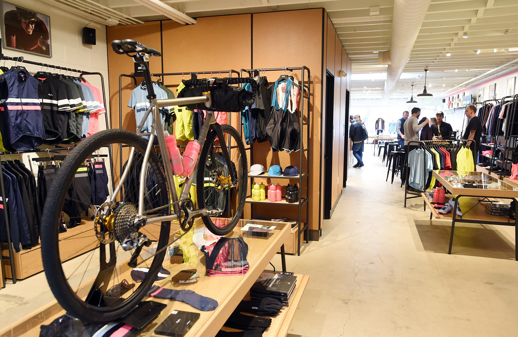 . You can buy cycling clothing or bikes, and watch cycling on TV,  while having coffee at Rapha Cafe and bike store at 1815 Pearl Street. For more photos, go to www.dailycamera.com.  Cliff Grassmick  Staff Photographer April 21, 2017