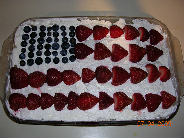 July 4th Flage Cake, 2005.