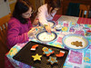 Painting the Ginger Bread Cookies - 2009.