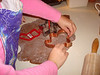 Making Ginger Bread Cookies.