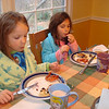 No can talk now, what a great breakfast, thanks Daddy, and Mr. Segre. (Jan. 2010).