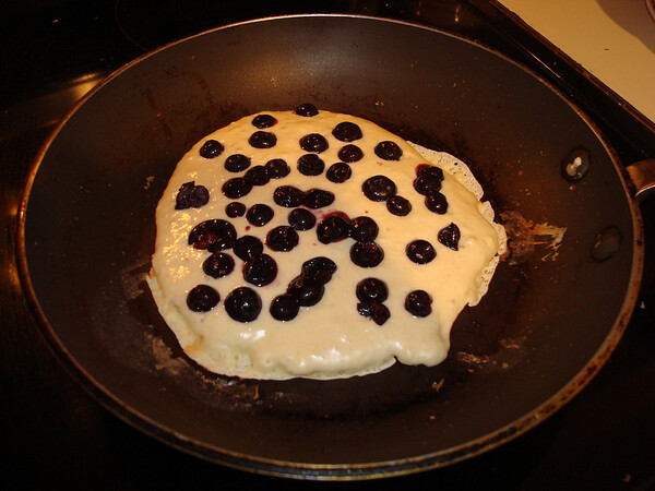Real Blueberry Pancakes, Jan. 2010.
