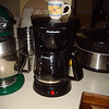 The coffee maker with my mini-cup to make it look like I'm drinking Expresso, nice!