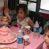 Isabel's 5'th Birthday -Pink Cinderella Cake with Chocolate Filling, 2007.