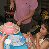 Isabel's 7'th Birthday -Pink Cinderella Cake with Chocolate Filling, 2009.