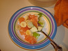 Sunday Jan. 31st - Fruit salad dessert, apples, grapefruit and banana.