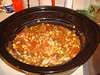 Mon. Feb. 1 -- Chicken and Vegetable stew made in the slow cooker. Including chicken, corn, carrots, lima beans, tomatoes, carrots, onions, paprika, worcestershire sauce...