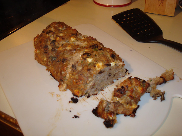 Sat. Jan. 30th - Ground Turkey Meatloaf with Feta Cheese and Sun Dried Tomatoes.