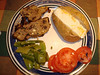 Sat. Jan. 30'th. - Turkey meatloaf, baked potato, green beans and tomatoes.