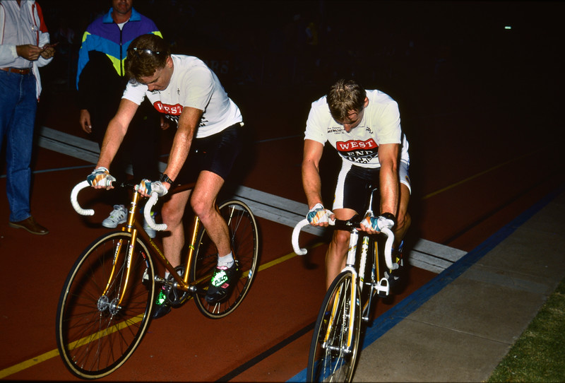 Brett Aitken and Stuart O'Grady  - 1992 Tunny Clark Memorial Night at Hanson Reserve