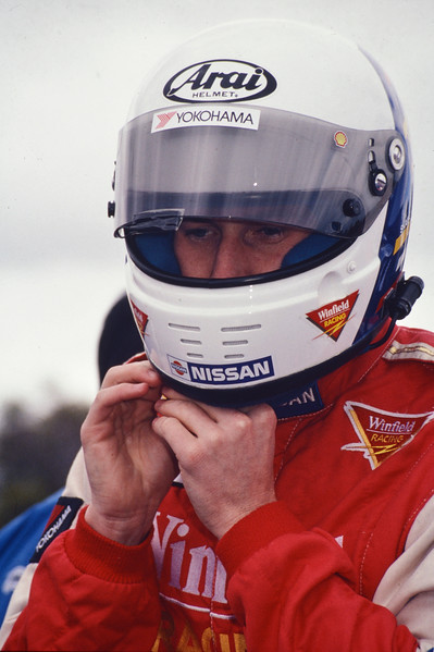 Mark Skaife Preparing for F1 Demo Drive Circa 1993