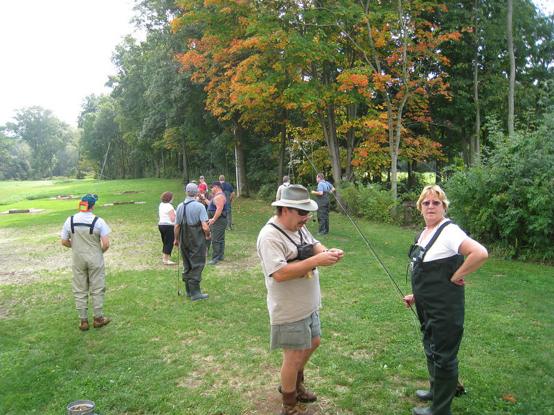 Professional guides from Shannon's Fly & Tackle provide fishing support to our corporate guests.