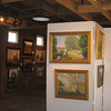 Two local artists held a successful art show staged in the barn.